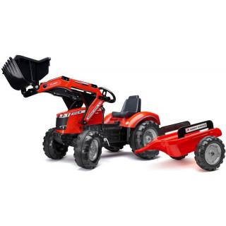 FALK - Šlapací traktor Massey Ferguson S8740 s nakladačem