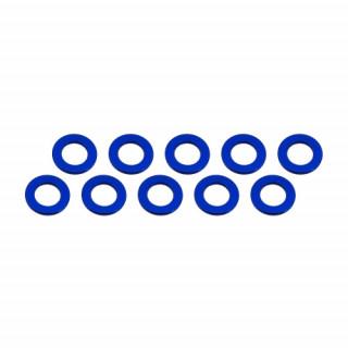 3x6x0,5mm alu podložky modré (10 ks.)