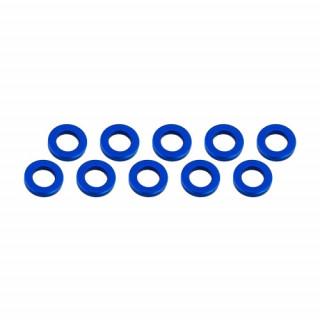 3x6x1mm alu podložky modré (10 ks.)