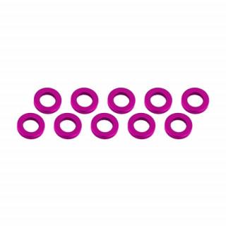 3x6x1mm alu podložky růžové (10 ks.)