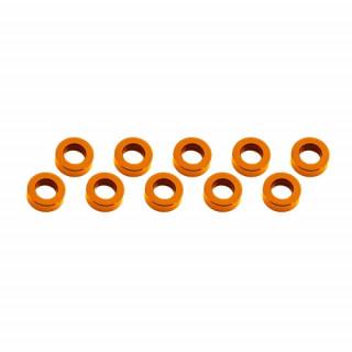 3x6x2mm alu podložky oranžové (10 ks.)
