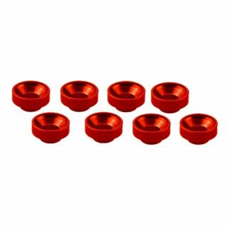 M3 alu servo podložky červené (8 ks.)