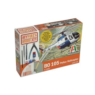 My First Model Kit vrtulník 12003 - BO-105 Police Helicopter (1:32)