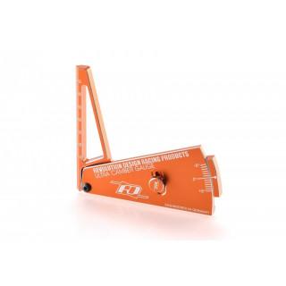 Hliníkový měřák odklonu R2 (oranžový)