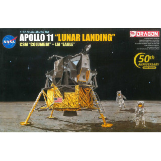 "Model Kit Apollo 11002 - APOLLO 11 ""LUNAR LANDING"" CSM ""COLUMBIA"" + LM ""EAGLE"" + ASTRONAUTS (1:72)"