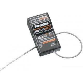 Futaba přijímač 6k R6106HFC 2.4GHz FASST HS Carbon