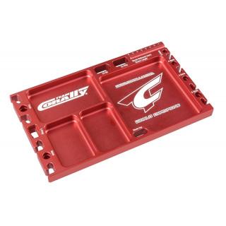Multi-stojánek a držák - vaničky - pájecí držák - CNC frézovaný - barva červená