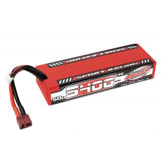 Sport Racing 50C LiPo Stick Hardcase-5400mAh-7.4V-T-DYN (40,0Wh)