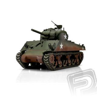 TORRO tank PRO 1/16 RC M4A3 Sherman 75mm zelený - infra