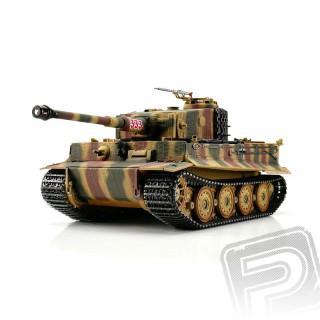 TORRO tank PRO 1/16 RC Tiger I Late Vers. kamufláž - infra