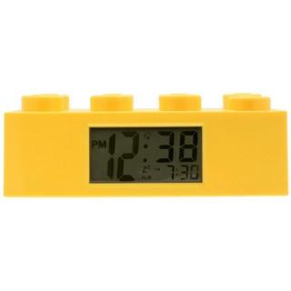 LEGO Brick hodiny s budíkem žluté