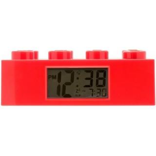 LEGO Brick hodiny s budíkem červené