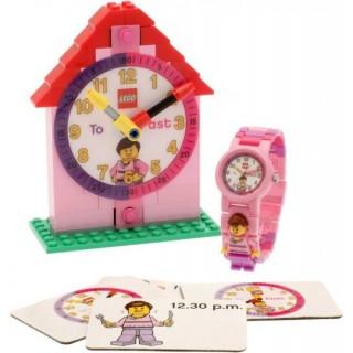 LEGO Time Teacher výuková stavebnice + růžové hodinky