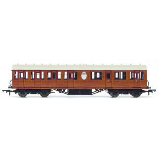 Vagón osobní HORNBY R4572A - LNER Thompson Non-corridor (Lavatory) Composite Coach, Teak