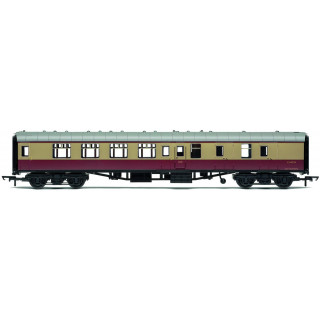 Vagón osobní HORNBY RAILROAD R4814 - BR Mk1 Corridor Brake Second Coach - BR Crimson & Cream