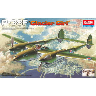 Model Kit letadlo 12208 - P-38F LIGHTNING GLACIER GIRL (1:48)