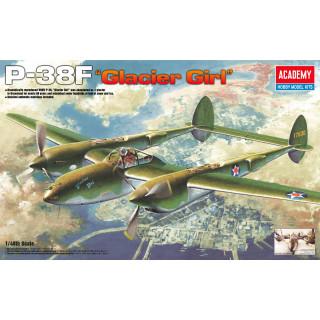 Model Kit letadlo 12208 - P-38F LIGHTNING GLACIER GIRL (1:48)