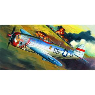 "Model Kit letadlo 12491 - P-47D ""BUBBLE-TOP"" (1:72)"