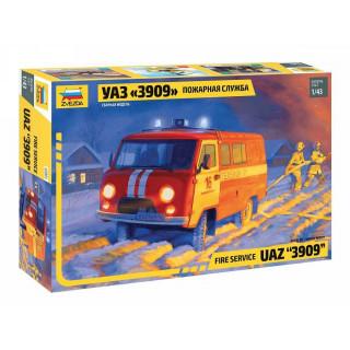 "Model Kit auto 43001 - Fire service UAZ ""3909"" (1:43)"