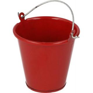 Robitronic kovový kbelík červený