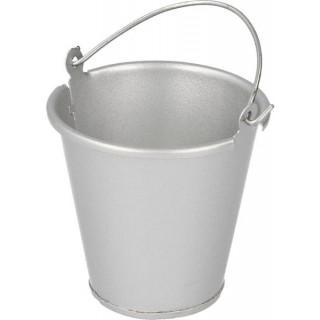 Robitronic kovový kbelík stříbrný