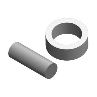 Ocelový čep a kroužek prokluzné spojky