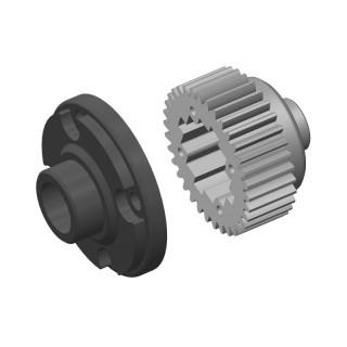 Dif. převody - kovové - Dif. plastvá klec - kompositový plast - 1 sada