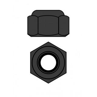Ocelové Nylon STOPmatky M4 - černé - 10 ks.