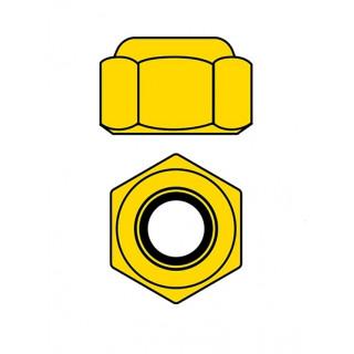 Hliníkové Nylon STOPmatky M2 - zlaté - 10 ks.