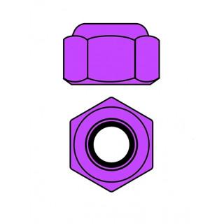 Hliníkové Nylon STOPmatky M2 - fialová - 10 ks.