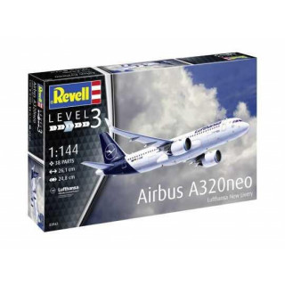 "Plastic ModelKit letadlo 03942 - Airbus A320 Neo Lufthansa ""New Livery"" (1:144)"