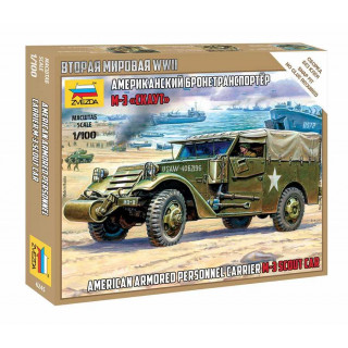 Snap Kit military 6245 - M-3 Scout Car (1:100)