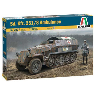 Model Kit military 7077 - Sd.Kfz. 251/8 Ambulance (1:72)