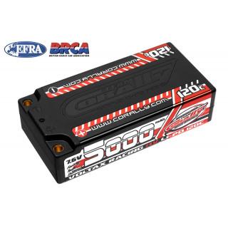 VOLTAX HiVOLT 120C LiPo Shorty Hardcase-5000mAh-7.6V-G4 (38,0Wh)