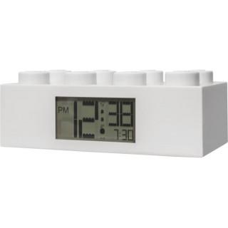 LEGO hodiny s budíkem Brick bílé