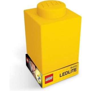 LEGO noční lampička Silikonová kostka žlutá