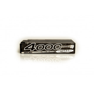 HV Ultra LCG Modified Shorty GRAPHENE-4 4000mAh Hardcase Akku - 7.6V LiPo - 120C/60C