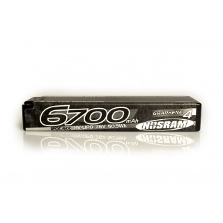 HV ULTRA LCG Modified GRAPHENE-4 6700mAh Hardcase Akku - 7.6V LiPo - 135C/65C