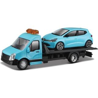 Bburago odtahovka s Renault Clio