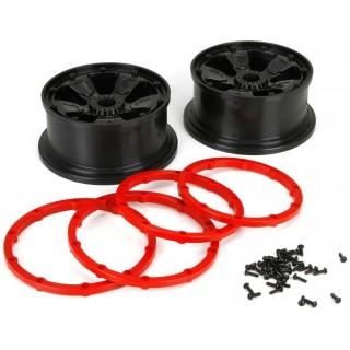 DBXL 1:5: Disk kola s kroužkem beadlock černý (2)