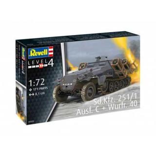 Plastic ModelKit military 03324 - Sd.Kfz. 251/1 Ausf. C + Wurfr. 40 (1:72)