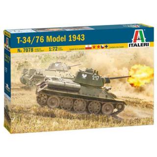 Model Kit tank 7078 - T-34/76 Model 1943 (1:72)