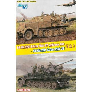 Model Kit military 6953 - (2 in 1) Sd.Kfz.7/2 3.7cm FlaK 37 w/Armor Cab or Sd.Kfz.7/2 3.7cm FlaK 36 (1:35)