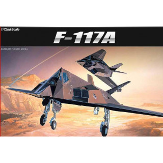 Model Kit letadlo 12475 - F-117A STEALTH FIGHTER/BOMBER (1:72)