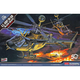 "Model Kit vrtulník 12131 - U.S ARMY OH-58D ""BLACK DEATH"" (1:35)"