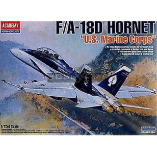 "Model Kit letadlo 12422 - F/A 18D HORNET ""US MARINES"" (1:72)"
