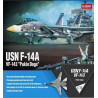 "Model Kit letadlo 12563 - USN F-14A ""VF-143 Pukin Dogs"" (1:72)"