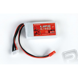 Power Pack Lipo 4/450 14,8V 50C BEC St.