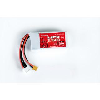 Power Pack LiPo 3/600 11,1 V 50C XT-30