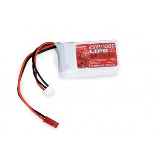 Power Pack LiPo 2/1000 7,4 V 30C BEC